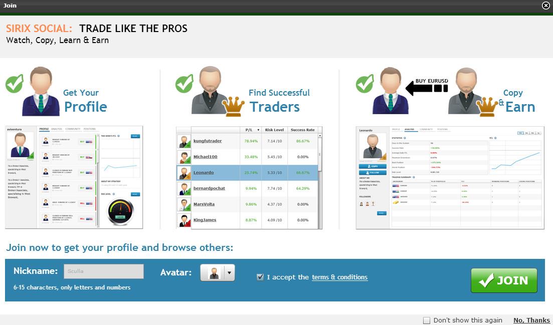 Social Trading Plattform