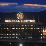 General Electric shares fall to a 26-month low on Monday, Deutsche Bank revises down price target for the stock