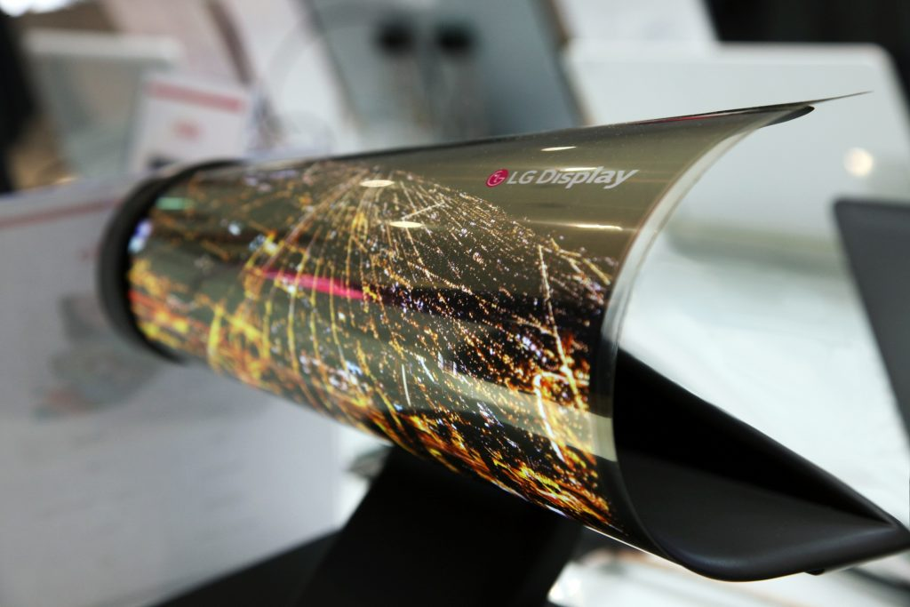 Samsung has demonstrated the first strechable OLED display