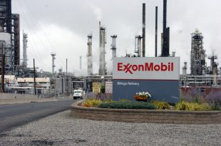 Exxon Mobil shares inch up on Thursday, company fined by the US Treasury over violations of Russia sanctions