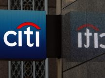 Citigroup shares fall the most in a week on Friday as investment banking revenue drops, while quarterly profit tops expectations