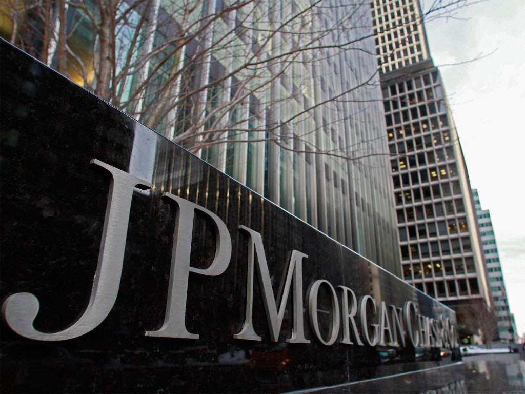 JP Morgan Chase shares close lower on Tuesday, bank to