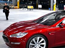 Tesla shares gain for a third straight session on Tuesday, company's facility in China to start producing in second half of 2019