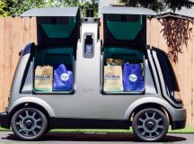 Kroger shares fall for a third straight session on Tuesday, company begins using unmanned vehicles to execute deliveries in Arizona