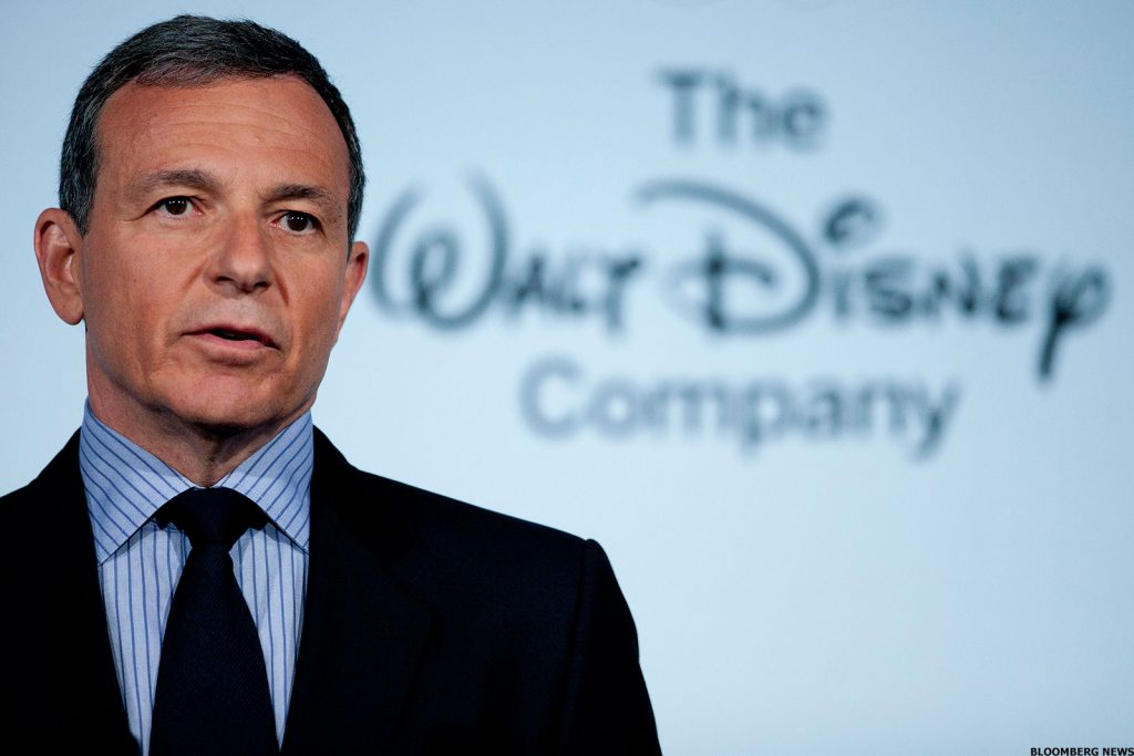 Walt Disney shares close lower on Friday, CEO Robert Iger ...