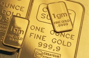 Close-up of Gold Bars
