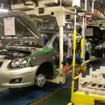 Toyota share price down, to launch new production platforms