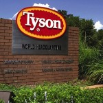 Tyson Foods Inc.'s share price up, wins the bidding war for Hillshire Brands Co. by offering 7.7 billion dollars