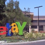 EBay Inc.'s share price down, posts an increase in second-quarter net profit, but projects downbeat third-quarter sales