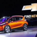 General Motors share price up, shows off its all-electric Bolt vehicle