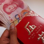 """Alibaba share price up, challenges Tencent over """"hong bao"""""""
