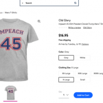 "Walmart shares rebound on Tuesday, retailer removes ""Impeach 45"" apparel from its website"