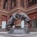 Stifel shares fall for a second straight session on Monday, company to buy certain assets of George K. Baum & Co for an undisclosed amount