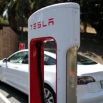 Tesla shares gain for a second straight session on Thursday, company introduces new supercharger equipment in Berlin